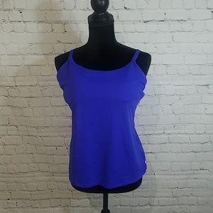 FABLETICS M cobalt blue padded bra tank top